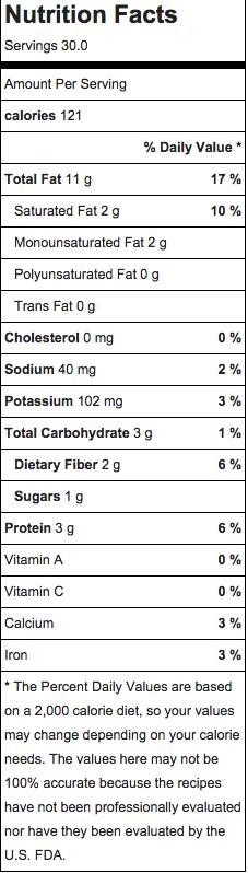 linzer bar nutrition info