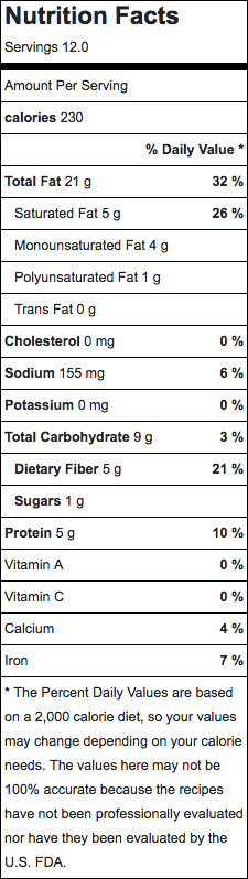 chocolate chip cookie pie nutrition