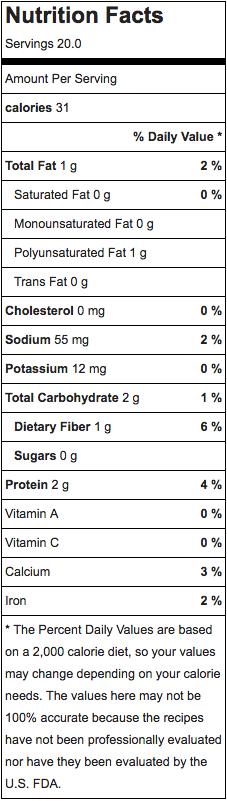 donut holes nutrition