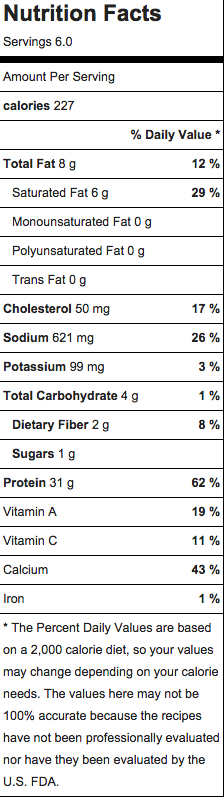 mac n cheese nutrition